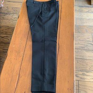 Classic black tapered leg dress pants